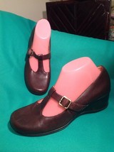 Naturalizer Westbury 8.5M Women's Brown Leather T-STRAP Mary Jane Comfort Shoes - $29.69