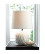 "Fairfax 16.4"" White Ceramic Base Table Lamp with Shade - $27.67"