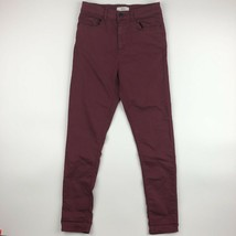 Forever 21 Women's Skinny Jeans Size 26 Red SB16  - $16.82