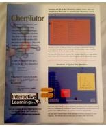 ChemTutor Interactive Educational Software - $61.55