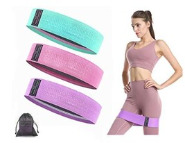 Booty bands hip resistance bands for workout exercise, yoga, legs and butt train