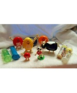 Lot of 11 M & M Novelty items, mini tubes and dispensers - $12.00