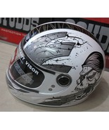 STUDDS MATT WHITE POLY CARBONATE FULL FACE HELMET BIKE HEAD PROTECTIVE H... - $83.78
