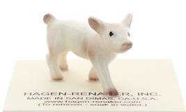 Hagen-Renaker Miniature Ceramic Pig Figurine White Baby Piglet image 1
