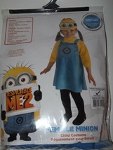 Girl's Costume Despicable ME2 Female Minion Sz 6-12 Mos Dress Tights Headpiece - $24.16