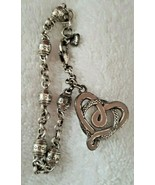 Brighton Jewelry Pink Heart Silver Tone Breast Cancer Awareness Charm Br... - $19.75