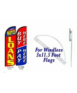 Buy Here Pay Here, Auto Loan Windless  Swooper Flag With Complete Kit  - $94.04