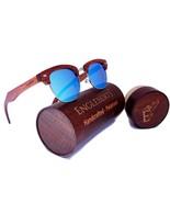 Engleberts Real Sandalwood Sunglasses W/ Bamboo Case, Ice Blue Polarized... - $45.00+