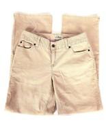 LL Bean Women's Pants Jeans Corduroy Favorite Fit Straight Leg Tan Size ... - $18.26