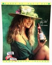ORIGINAL Vintage 1993 Budweiser Beer Kathy Ireland St Patrick's Day 20x2... - $24.74