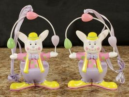 3 Avon Easter Bunny Clown Perfect Juggler Parading Parasol Plastic Figures  image 4