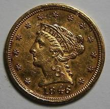 1846 Braided Hair Quarter Eagle Coin Gold $2.5 Lot MZ 4574