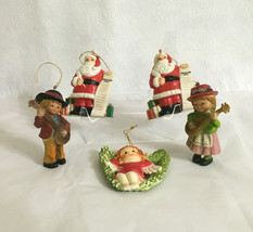 Lot 5 Vintage Shatterproof Christmas Ornaments Hong Kong & China (1993) ... - $19.35