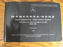 Mercedes-Benz Type W201 Parts Catalog Manual 190E 2.3 190D 2.2 2.5 1984 ... - $63.46