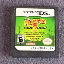 NINTENDO DS GAME MADAGASCAR ESCAPE 2 AFRICA Game Only Tested - $5.22