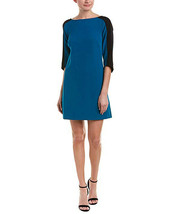 Adrianna Papell Stretch Crepe Shift Dress, Winter Lagoon, 14 - $79.19