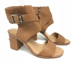UGG Australia Claudette Leather Heeled Sandals in Almond Side Buckle 1090433 10 - $59.99
