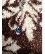 Fashion Womens Crystal Rhinestone Sivler Chain Pendant Necklace - $1.09