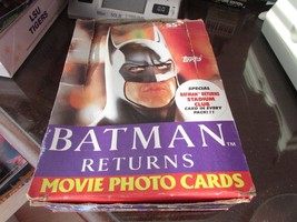 Topps Batman Returns Movie Photo Cards Case Opened As Is Pretty Full 1992 S1 - $3.22