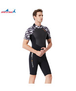 Diving Suit for Men 1.5MM Siamese Short Sleeve Female Surfing Warm Swimw... - $64.15