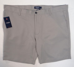 Chaps Golf Stay Dry Gray Flat Front Shorts Mens NWT - $52.49