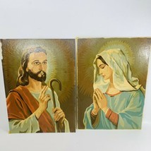 2 Vintage Paint By Number 10x14 Palmer Paint 1960 Jesus Mary Religious S... - $32.66