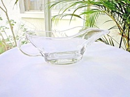 Anchor Hocking Presence Pattern Clear Gravy Boat Sauce Boat. - $24.74
