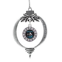 Inspired Silver That's How I Roll Circle Holiday Decoration Christmas Tree Ornam - €12,87 EUR