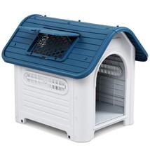 Waterproof Plastic Dog Cat Kennel Puppy Outdoor Indoor House Pet Up to 30LB - $62.36