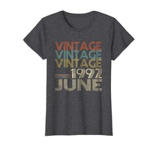 Uncle Shirts -   Retro Classic Vintage Born In JUNE 1992 Gift 26 Years Old Wowen image 1