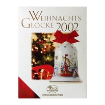 "HUTSCHENREUTHER* 2""x3"" CHRISTMAS BELL Ship+Port HOLIDAY ORNAMENT Porcela... - $9.89"