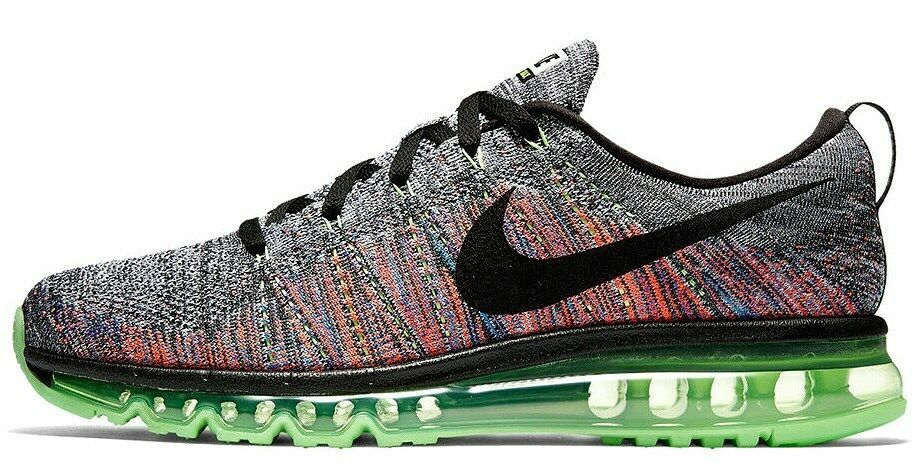NIKE FLYKNIT AIR MAX MULTI-COLOR WOMEN SIZE 7.5 NEW RARE SHOES (620659-103)