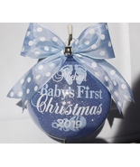 """Baby's First Christmas Plastic 4"""" ornament Personalized ornament First C... - $18.50"""