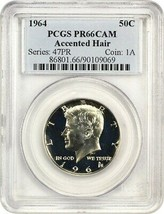 1964 50c PCGS PR 66 CAM (Accented Hair) Popular Variety - Kennedy Half D... - $213.40