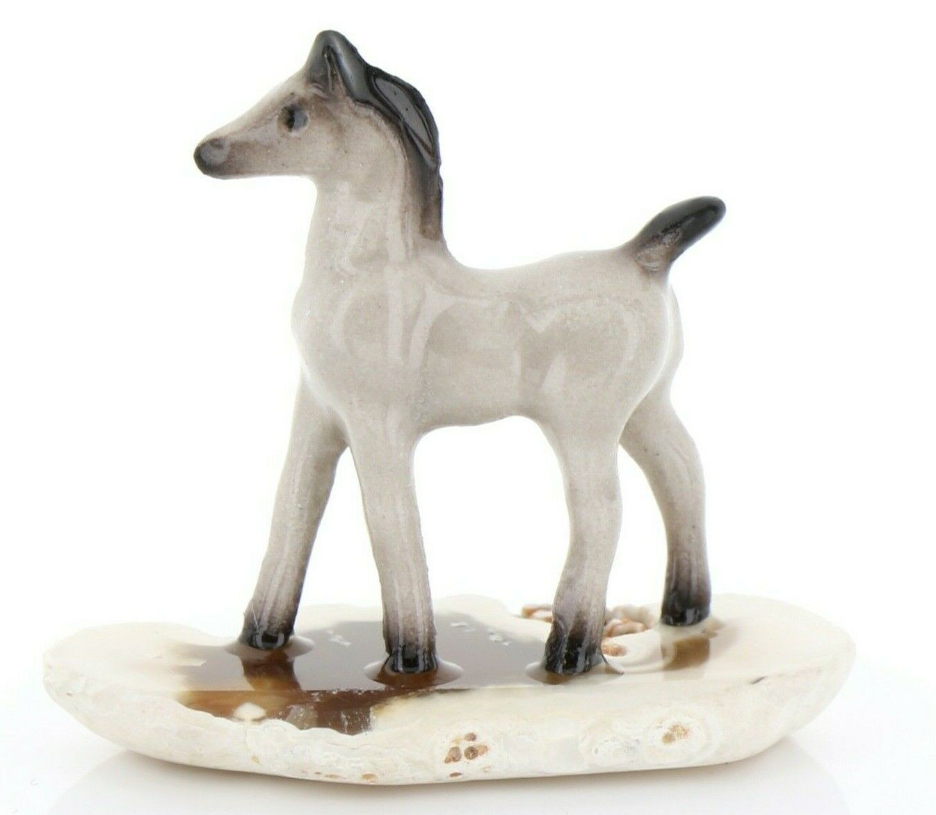 Hagen Reanker Miniature Horse Tiny Gray Colt on Base Stepping Stones #2744