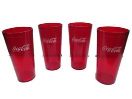 Coca-Cola  Red Plastic Tumblers 24 oz set of 4- BRAND NEW - $13.85