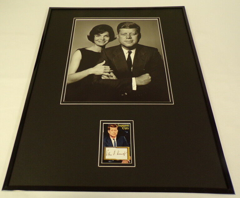 Primary image for John F Kennedy JFK Facsimile Signed Framed 16x20 Photo Display w/ Jackie