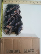 FREE US SHIP OK Touch Lamp Replacement Glass Panel Owls On Branch 638-OWL - $9.75
