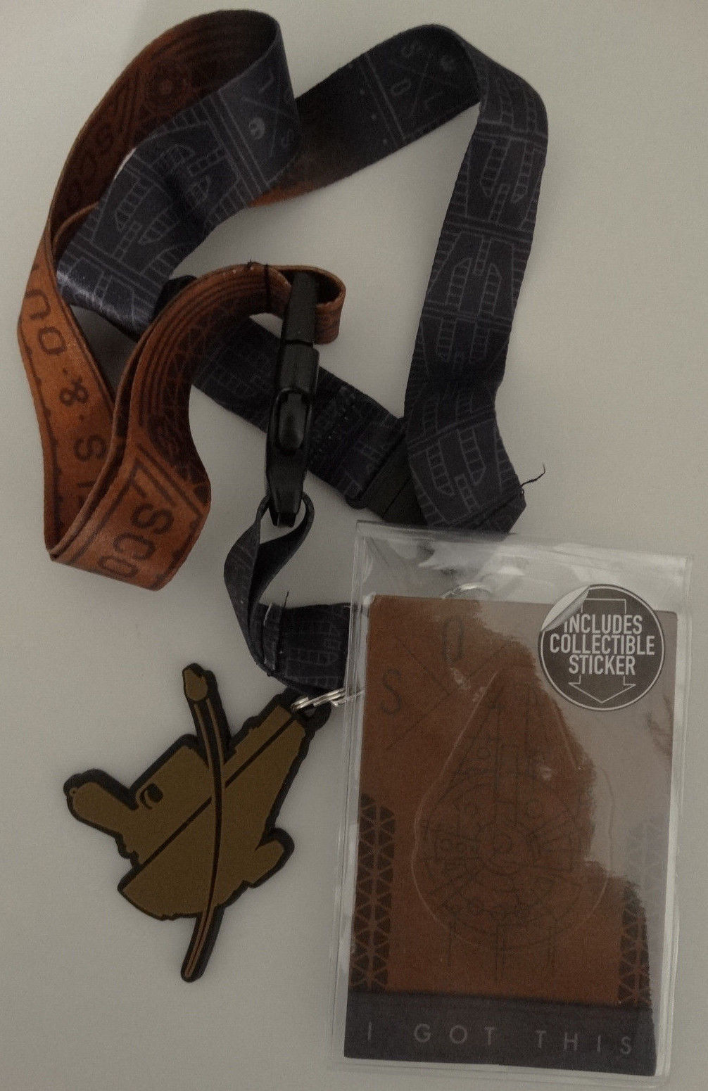 Star Wars Han Solo Scoundrels And Outlaws ID Badge Holder Keychain Lanyard