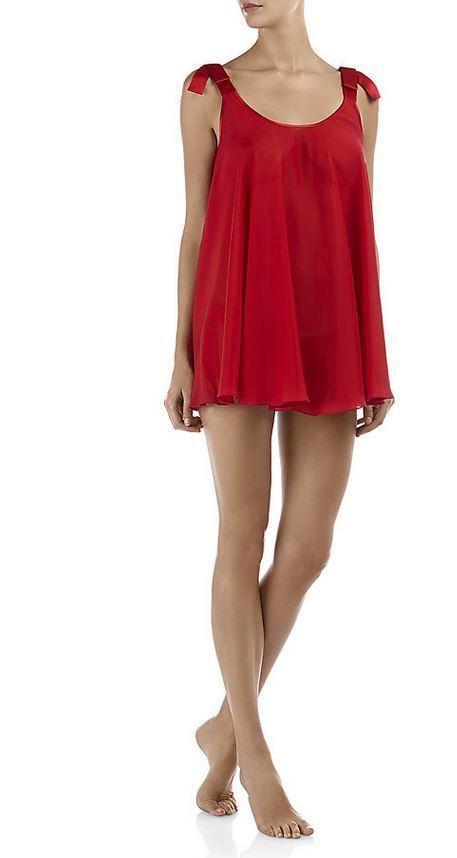 AGENT PROVOCATEUR Birthday Suit Silk Scarlet Red Babydoll or Silk Garter  BNWT 7cc3b7f8f