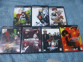 SNK The King of Fighters 7 Games For Sony PS 2 + 6 Strategy Guide Books B49 - $420.00