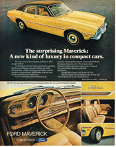Vintage 1973 Magazine Ad Ford The Surprising Maverick A New Kind Of Luxury - $5.93