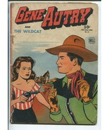 GENE AUTRY FOUR COLOR #75 1945-DELL-JESSE MARSH ART-THE WILDCAT-good+ - $59.60