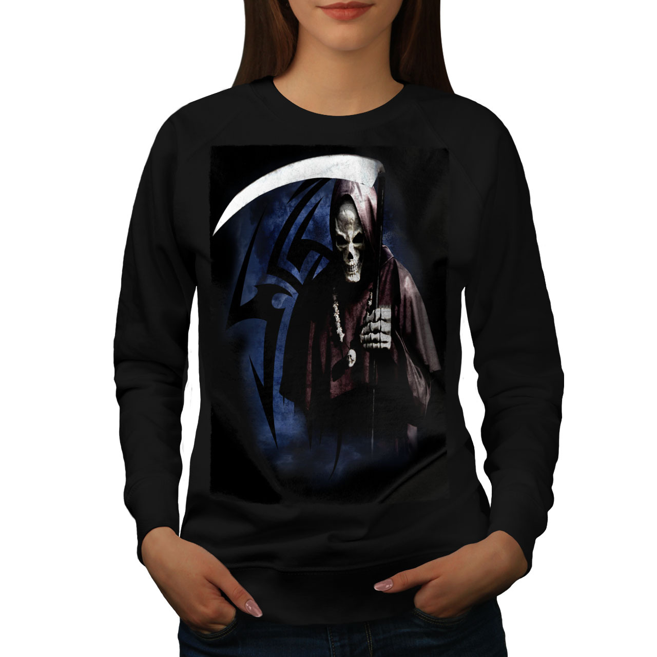 Primary image for Grim Reaper Death Horror Jumper Crazy Horror Women Sweatshirt