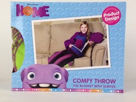 """Dreamworks Home Comfy Throw Fleece Blanket with Sleeves 48"""" x 48"""" New - $14.99"""