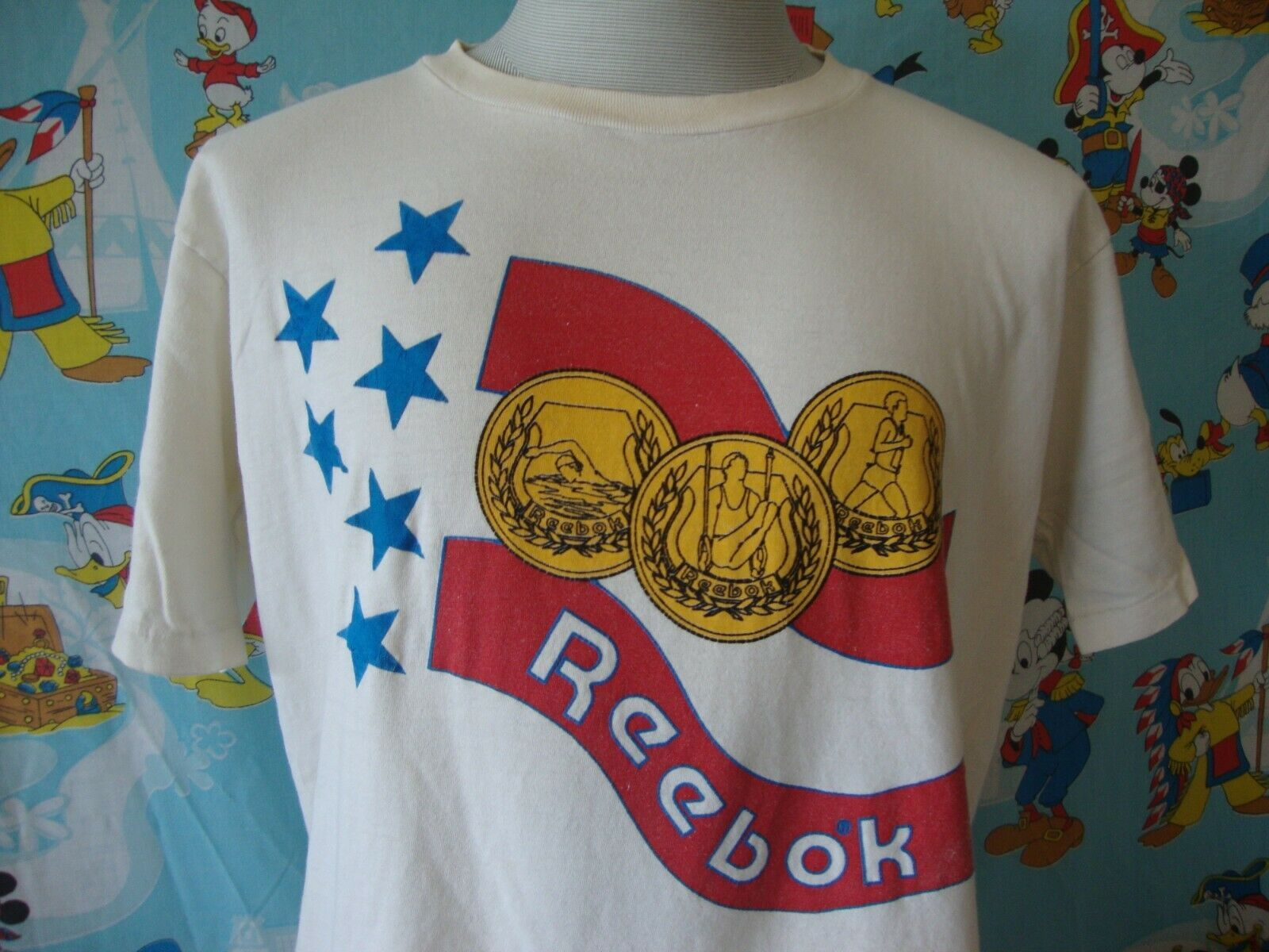 Primary image for Vintage 80's Reebok Gold Medal T Shirt L