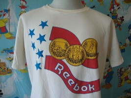 Vintage 80's Reebok Gold Medal T Shirt L  - $39.59