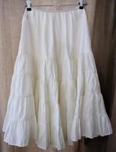 "Vintage ""American Maid"" White Nylon Petticoat Rockabilly 1950s Ruffled T... - $19.99"
