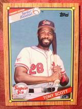 Senior Baseball Topps 1989#91 Tony Scot - $0.99