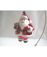 Traditional Santa Claus  Ornament   Handpainted Glass Bethany Lowe - $12.86